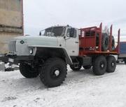 Урал 43204 лесовоз с новой площадкой 2015